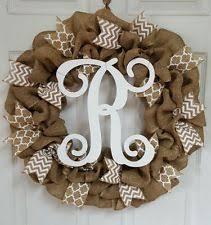 monogram wreath initial wreath ebay