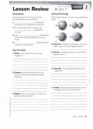 Cell Division Worksheet Answers Worksheet Mitosis Lesson 1 Review Mitosis Review Worksheet Mitosis
