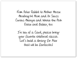 book instead of card baby shower poem baby shower rhyme tell guests to bring a child book instead of