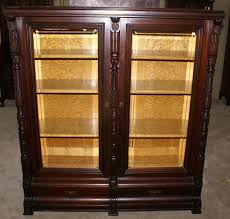 Mahogany Bookcase With Glass Doors Antique Bookcase Mahogany Bookcases With Antique Bookcase With