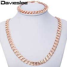 gold filled necklace set images Buy 9mm jewelry set mens chain womens round cut jpg