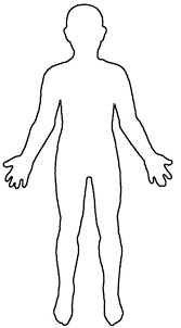 Right Side Human Anatomy Clipart Body Right Side Outline Free Clipart Body Right Side Outline