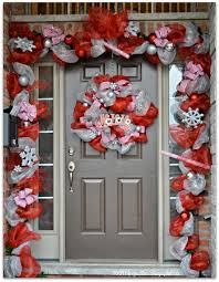 christmas decoration christmas front a door diy deco mesh wreath