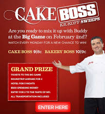 cake boss sweepstakes watch it win it all the trivia answers