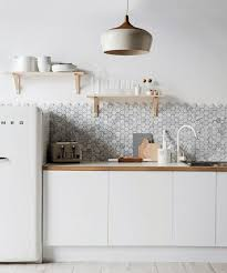 backsplashes for white kitchens 36 eye catchy hexagon tile ideas for kitchens digsdigs