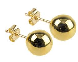 9ct gold stud earrings yellow gold studs etsy