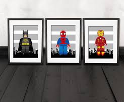 deco chambre garcon heros wall decor room nursery wall prints set of 3