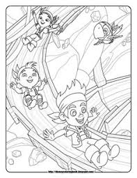 jake neverland pirates coloring pages party pirates