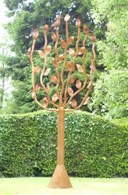 steel garden ornaments exhort me