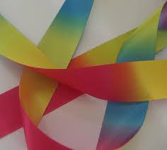 sided satin ribbon 25mm printed sided satin rainbow ribbon