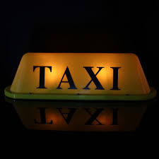Taxi Light Led 12v Car Taxi Cab Roof Top Sign Light Lamp Magnetic Yellow Sale