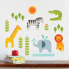 safari animals fabric wall decals petit collage petit collage safari fabric wall decal zoom