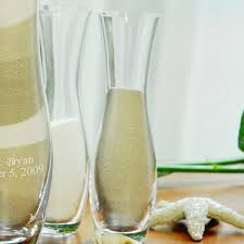 Sand Vases For Wedding 4pc Personalized Unity Sand Ceremony Set