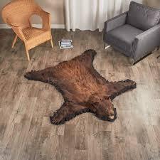 feet 0 inches 152 cm brown bear rug 794727