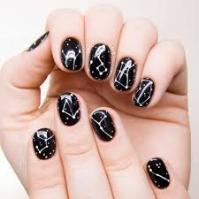 69 beautiful black and white nail design for classic look blurmark