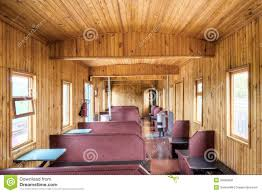 Wooden Interior The Wooden Interior Of Old Russian Rail Car Stock Photo Image