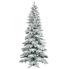 10ft christmas tree vickerman 10 ft flocked slim utica fir pre lit led