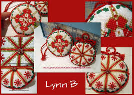 happiness is cross stitching cross stitch ornaments