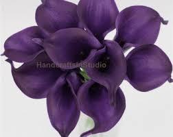 purple calla lilies calla bouquet etsy