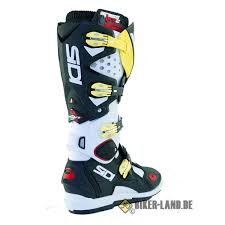 black motocross boots sidi crossfire 2 srs motocross boots black white yellow fluo