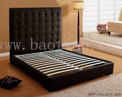 bedroom furniture chesterfield style high headboard design leather