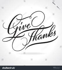 thanksgiving custom give thanks original custom hand lettering stock vector 324395210