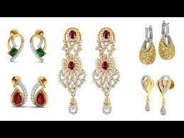 real gold earrings exclusive collection of designer real gold diamond earrings