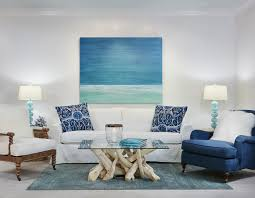 Beach Dining Room Sets by Amazing Coastal Dining Room Decor Blue Painted Side Table Blue Sea