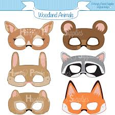 woodland forest animals printable masks woodland animal mask