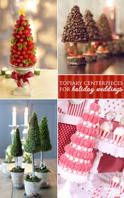 clever centerpiece ideas topiaries for holiday weddings
