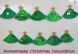 Homemade Christmas Tree Decorations Paper Plate Christmas Tree Counting Decoration Learning 4 Kids
