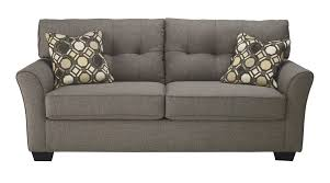 Ashley Outdoor Furniture Ashley 9910138 Tibbee Contemporary Sofa Slate Tone Fabric Upholstery