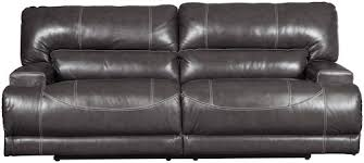 Power Sofa Recliner Signature Design By Mccaskill Contemporary Leather Match 2
