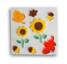 fall autumn harvest thanksgiving leaf sunflower acorn gel window