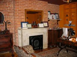 Fake Exposed Brick Wall Exposed Brick Wall In Monkey Room Home Office Townhouse Turnaround