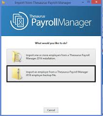 importing from thesaurus payroll manager brightpay documentation