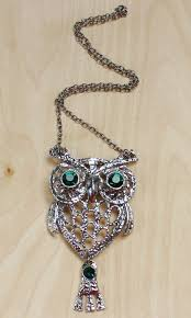 necklace with owl pendant images Green eyed vintage owl pendant necklace 805 mimi boutique jpg