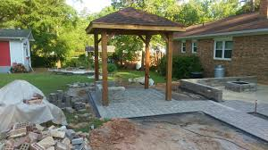 Pergola With Fire Pit by A Gorgeous New Pergola Paver Walkway Sitting Area Patio And