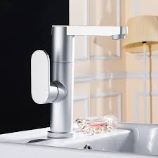 Kitchen Water Faucets Aluminum Faucet Silver High Grade Faucet And Cold Water Faucet