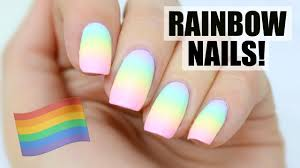pastel rainbow nails pride month youtube