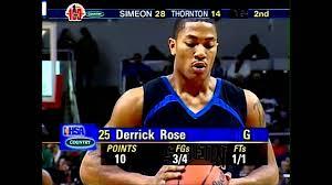 simeon vs thornton 12 09 2006 derrick rose 22pts 9asts 8rebs