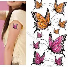 butterfly temporary tattoos color butterfly wst10174