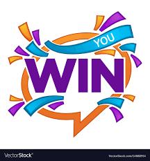 congratulation banner you win congratulation banner template with vector image