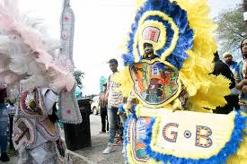 mardi gras indian costumes mardi gras indians take to the streets photos uptown messenger