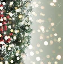 christmas tree background with bokeh lights stock photo picture