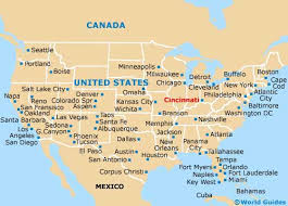 ohio on the map of usa map of cincinnati northern kentucky airport cvg orientation