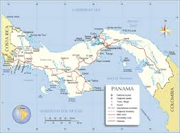 Map Of Usa And Puerto Rico by Political Map Of Panama Nations Online Project
