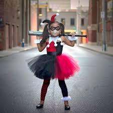 Harley Quinn Halloween Costume Kids Shop Superhero Collection Harley Quinn Party Dress