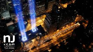 world trade center lights tribute in lights world trade center attacks anniversary youtube