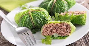 cuisiner du choux vert recette de chou vert farci à la viande hachée maigre